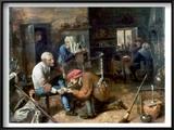 Village Barber-Surgeon Poster by Adriaen Brouwer