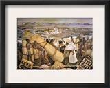 Tenochtitlan (Mexico City) Framed Giclee Print by Diego Rivera