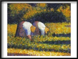 Seurat: Farm Women, C1882 Poster by Georges Seurat