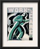 New Deal: Wpa Poster Framed Giclee Print by Robert Muchley