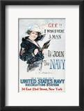World War I: U.S. Navy Estampe encadrée par Howard Chandler Christy