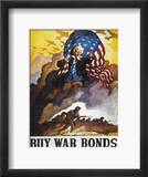 World War Ii Bond Poster Estampe encadrée par Newell Convers Wyeth
