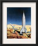 Mars Mission, 1950S Framed Giclee Print by Chesley Bonestell