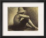 Seurat: Seated Boy, 1883-4 Framed Giclee Print by Georges Seurat