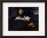 Courbet: Self-Portrait Framed Giclee Print by Gustave Courbet