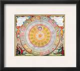 Copernican Universe, 1660 Framed Giclee Print by Andreas Cellarius