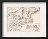 Map: Northeast U.S.A Framed Giclee Print