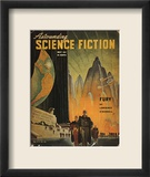 Science Fiction Magazine Estampe encadrée par Hubert Rogers