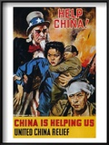 "Wwii Poster: ""Help China"" Art by James Montgomery Flagg"