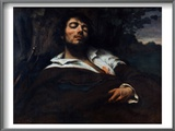 Courbet: Self-Portrait Print by Gustave Courbet