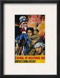"Wwii Poster: ""Help China"" Framed Giclee Print by James Montgomery Flagg"
