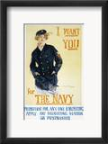 World War I: Navy Poster Estampe encadrée par Howard Chandler Christy