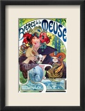 Beer Ad By Mucha, C1897 Framed Giclee Print by Alphonse Mucha