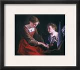 St. Cecilia And An Angel Framed Giclee Print by Orazio Gentileschi