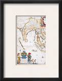 South Asia Map, 1662 Framed Giclee Print by Jan Blaeu