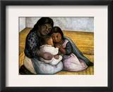 Rivera: Mother & Children Framed Giclee Print by Diego Rivera