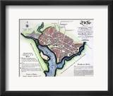 Washington, Dc, Plan, 1792 Framed Giclee Print by Andrew Ellicott