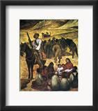 Rivera: Schoolteacher Framed Giclee Print by Diego Rivera