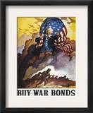 World War Ii Bond Poster Framed Giclee Print by Newell Convers Wyeth