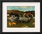 Gauguin: Swineherd, 1888 Framed Giclee Print by Paul Gauguin