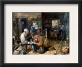 Village Barber-Surgeon Framed Giclee Print by Adriaen Brouwer