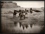 Navajo On Horseback, C1904 Prints by Edward S. Curtis