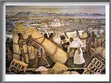 Tenochtitlan (Mexico City) Print by Diego Rivera