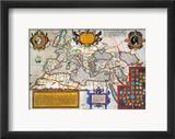 Map Of The Roman Empire Framed Giclee Print by Abraham Oertel