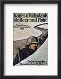 Wwi: German Poster, 1917 Gerahmter Giclée-Druck von Lisa von Schauroth