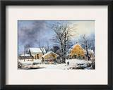 Currier &amp; Ives Winter Scene Framed Giclee Print by Marc Chagall