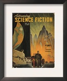 Science Fiction Magazine Framed Giclee Print by Hubert Rogers