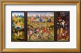 Der Garten der Lüste|The Garden of Earthly Delights, ca. 1500 Gerahmter Giclée-Druck von Hieronymus Bosch