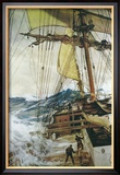 Aufkommender Sturm Gerahmter Gicl&#233;e-Druck von Montague Dawson