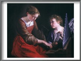 St. Cecilia And An Angel Poster by Orazio Gentileschi