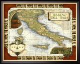 Wein Karte von Italien Gerahmter Giclée-Druck