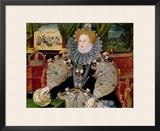 Elizabeth I, Armada Portrait, circa 1588 Framed Giclee Print by George Gower