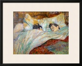 The Bed (Le Lit), 1892 Framed Giclee Print by Henri de Toulouse-Lautrec