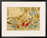 Goldfish Framed Giclee Print by Ni Tian