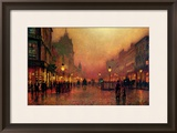 A Street at Night Framed Giclee Print by John Atkinson Grimshaw