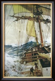 Rising Wind Framed Giclee Print by Montague Dawson