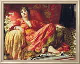 Leila, 1892 Gerahmter Gicl&#233;e-Druck von Frank Bernard Dicksee