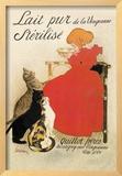 Lait Pur de la Vingeanne Sterilise Framed Giclee Print by Théophile Alexandre Steinlen