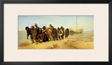 The Boatmen on the Volga, 1870-73 Framed Giclee Print by Ilya Efimovich Repin