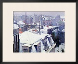 View of Roofs or Roofs Under Snow, 1878 Framed Giclee Print by Gustave Caillebotte