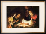The Nativity Framed Giclee Print by Gerrit van Honthorst