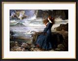 Miranda, der Sturm, 1916 Gerahmter Giclée-Druck von John William Waterhouse
