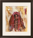 Untitled African Red Wrap Prints by Marta Gottfried