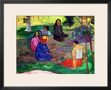 Les Parau Parau (The Gossipers), or Conversation, 1891 Framed Giclee Print by Paul Gauguin