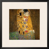 The Kiss, 1907-1908 Framed Giclee Print by Gustav Klimt