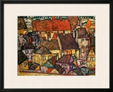 Yellow City, 1914 Framed Giclee Print by Egon Schiele